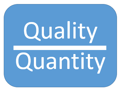 quality over qunatity